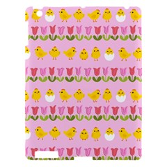 Easter   Chick And Tulips Apple Ipad 3/4 Hardshell Case