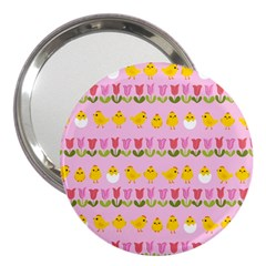 Easter - chick and tulips 3  Handbag Mirrors