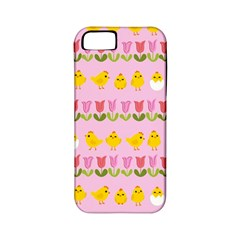 Easter - chick and tulips Apple iPhone 5 Classic Hardshell Case (PC+Silicone)