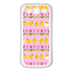 Easter - chick and tulips Samsung Galaxy S3 Back Case (White)