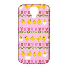 Easter - chick and tulips Samsung Galaxy S4 Classic Hardshell Case (PC+Silicone)