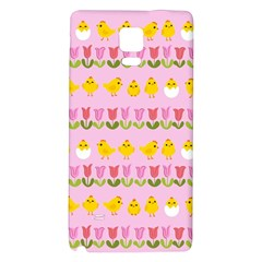 Easter - chick and tulips Galaxy Note 4 Back Case