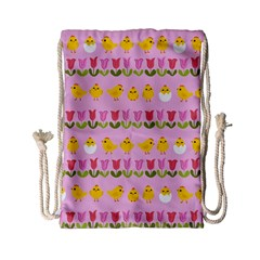 Easter - chick and tulips Drawstring Bag (Small)