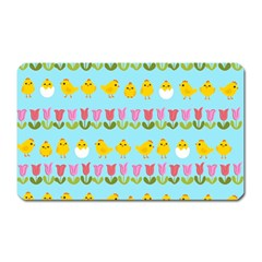 Easter - chick and tulips Magnet (Rectangular)
