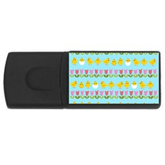 Easter - chick and tulips USB Flash Drive Rectangular (1 GB)