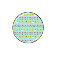 Easter - chick and tulips Hat Clip Ball Marker (10 pack)