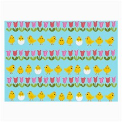 Easter - chick and tulips Large Glasses Cloth (2-Side)