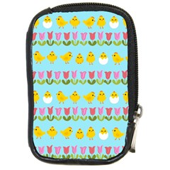 Easter - chick and tulips Compact Camera Cases