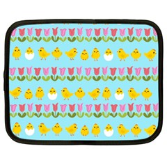 Easter - chick and tulips Netbook Case (XXL)