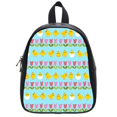 Easter - chick and tulips School Bags (Small)