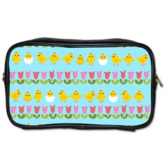 Easter - chick and tulips Toiletries Bags 2-Side