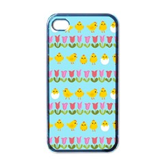 Easter - chick and tulips Apple iPhone 4 Case (Black)