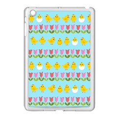 Easter - chick and tulips Apple iPad Mini Case (White)