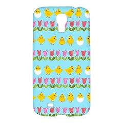 Easter - chick and tulips Samsung Galaxy S4 I9500/I9505 Hardshell Case