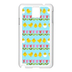 Easter - chick and tulips Samsung Galaxy Note 3 N9005 Case (White)