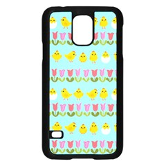 Easter - chick and tulips Samsung Galaxy S5 Case (Black)