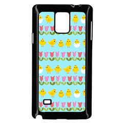 Easter - chick and tulips Samsung Galaxy Note 4 Case (Black)