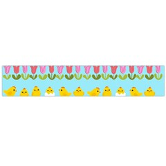 Easter - chick and tulips Flano Scarf (Large)