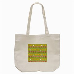 Easter - chick and tulips Tote Bag (Cream)