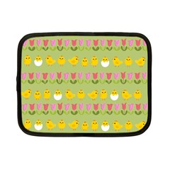 Easter - chick and tulips Netbook Case (Small)