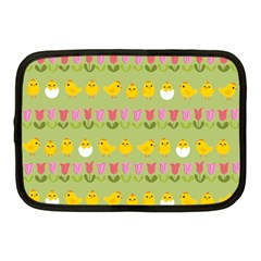 Easter - chick and tulips Netbook Case (Medium)