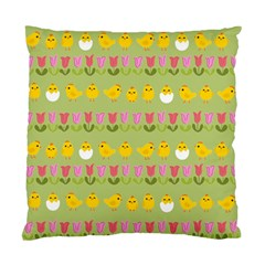 Easter - chick and tulips Standard Cushion Case (Two Sides)