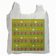 Easter - chick and tulips Recycle Bag (Two Side)