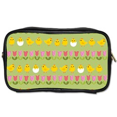 Easter - chick and tulips Toiletries Bags