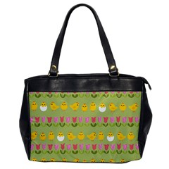 Easter - chick and tulips Office Handbags