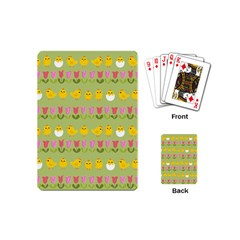Easter - chick and tulips Playing Cards (Mini)