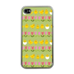 Easter - chick and tulips Apple iPhone 4 Case (Clear)
