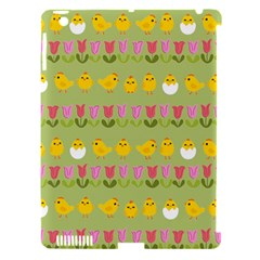 Easter - chick and tulips Apple iPad 3/4 Hardshell Case (Compatible with Smart Cover)