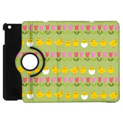Easter - chick and tulips Apple iPad Mini Flip 360 Case