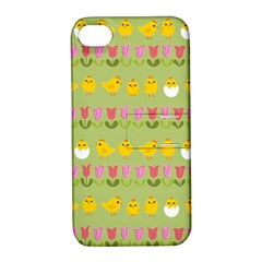 Easter - chick and tulips Apple iPhone 4/4S Hardshell Case with Stand