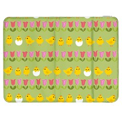 Easter - chick and tulips Samsung Galaxy Tab 7  P1000 Flip Case