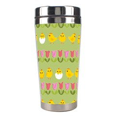 Easter - chick and tulips Stainless Steel Travel Tumblers