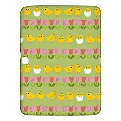 Easter   Chick And Tulips Samsung Galaxy Tab 3 (10 1 ) P5200 Hardshell Case