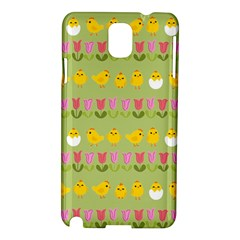 Easter - chick and tulips Samsung Galaxy Note 3 N9005 Hardshell Case