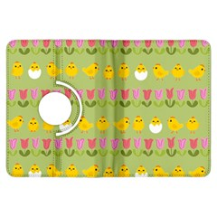 Easter - chick and tulips Kindle Fire HDX Flip 360 Case