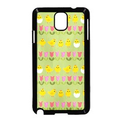 Easter - chick and tulips Samsung Galaxy Note 3 Neo Hardshell Case (Black)