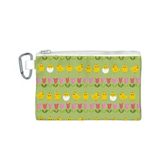 Easter - chick and tulips Canvas Cosmetic Bag (S)