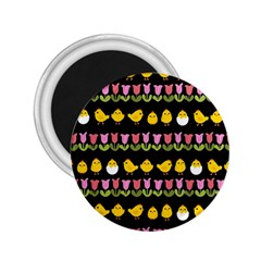 Easter - chick and tulips 2.25  Magnets