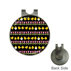Easter - chick and tulips Hat Clips with Golf Markers