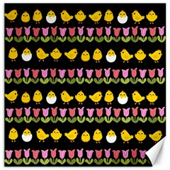 Easter - chick and tulips Canvas 20  x 20