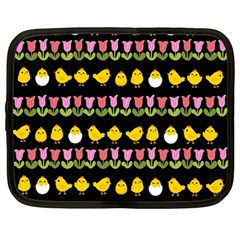 Easter - chick and tulips Netbook Case (Large)