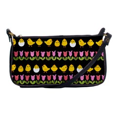 Easter - chick and tulips Shoulder Clutch Bags