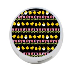 Easter - chick and tulips 4-Port USB Hub (One Side)