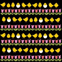 Easter - chick and tulips Magic Photo Cubes