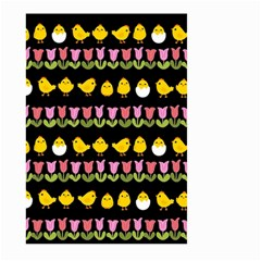 Easter - chick and tulips Large Garden Flag (Two Sides)