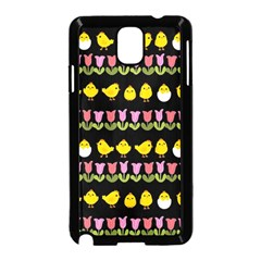 Easter   Chick And Tulips Samsung Galaxy Note 3 Neo Hardshell Case (black)